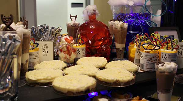 Photo of creative corporate catering desserts.