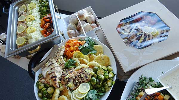Photo of corporate catering food platter at corporate event.