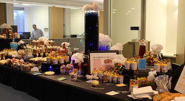 Photo of corporate catering display at Alkermes in Waltham, Massachusetts.