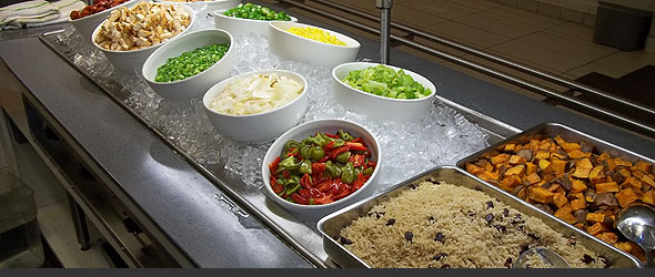 Employee's health benefits from healthy cafeteria