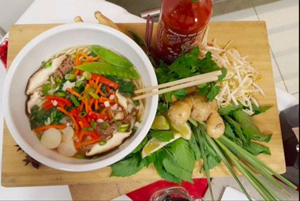 Photo of Pho dish prepared by corporate food service