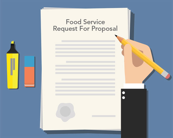 Graphic of a food service RFP template