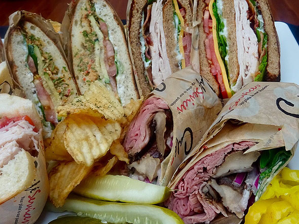 Photo of sandwiches and wraps