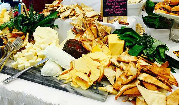 Corporate dining cheese display