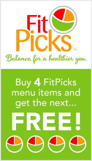 Graphic of Café Services FitPicks promo