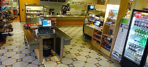 Photo of corporate dining micro market.