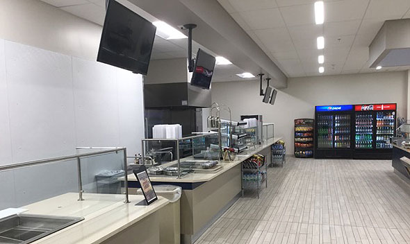 Photo of new cafeteria food stations