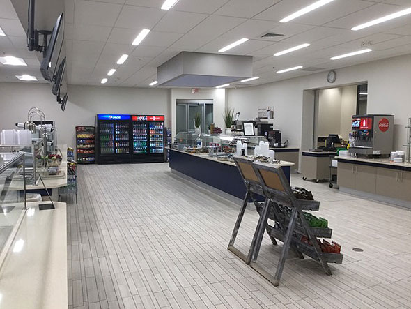 Photo of new cafeteria action stations