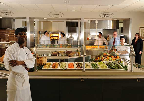 Photo of Café Services' corporate food service crew in cafeteria