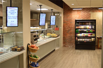 New cafe station in W.B. Mason's new corporate dining facility