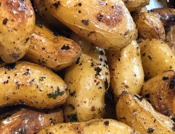 Roasted Potatoes for Halloween Mummy at iRobot Beford, Massachusetts