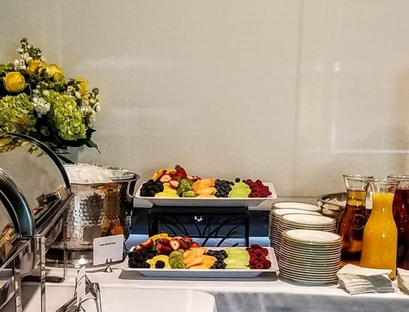 Catered breakfast at Alkermes in Waltham, MA