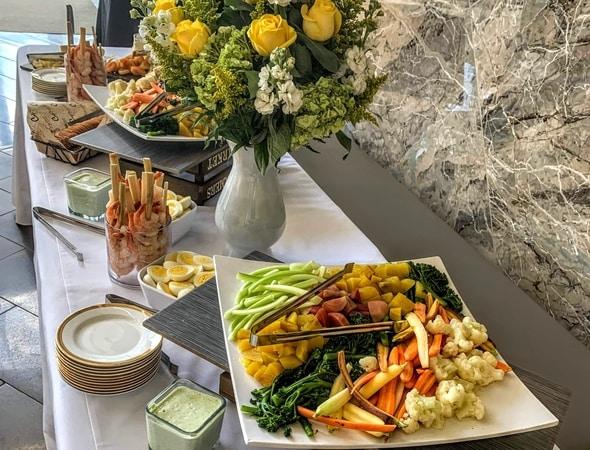 Catering display at rewards banquet