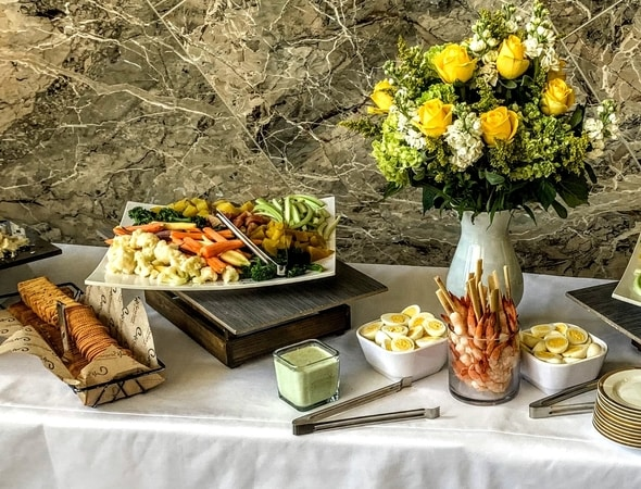 This photo is from the high end catering event held in Waltham, Massachusetts