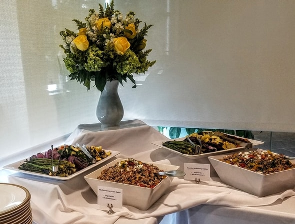 Menu items served for the Luncheon in Waltham, MA
