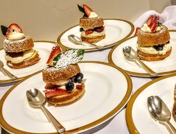 Desserts at the high end catering event in Waltham, Massachusetts