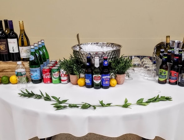 Beverage Station setup at Board of Directors Meeting, Brighton, Massachusetts