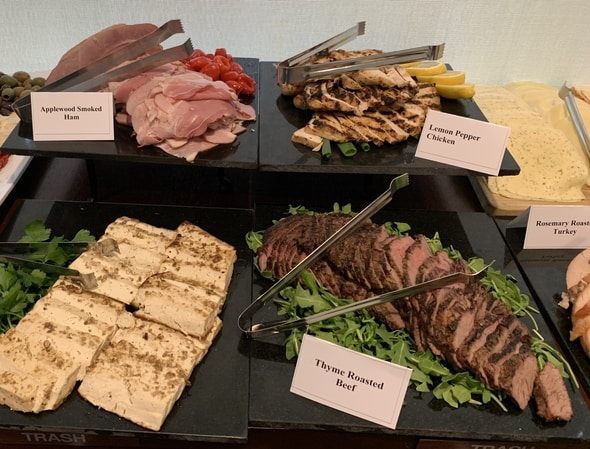 These are the deli platters of the gourmet lunch at Cafe 850, Waltham, Massachusetts