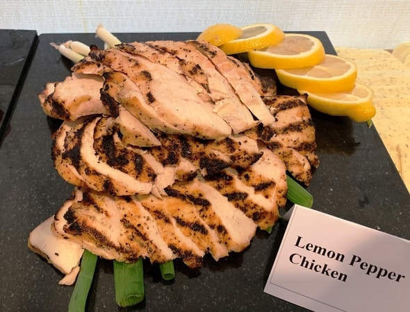 Lemon Rosemary Chicken deli platter in Waltham Massachusetts