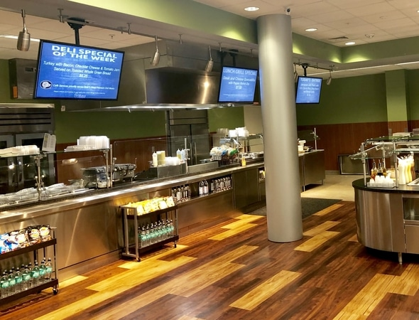 Our new large cafeteria in Maryland