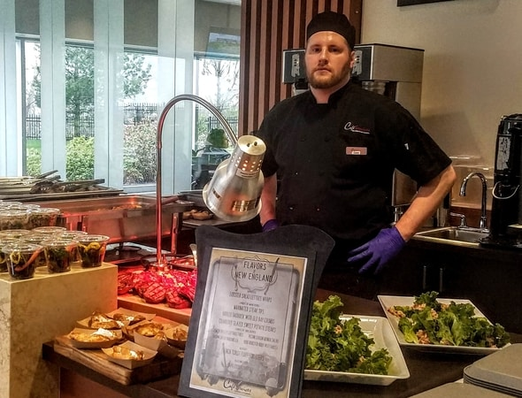 Pictured is Chef Cory from our WB Mason Cafe in Brockton, Massachusetts