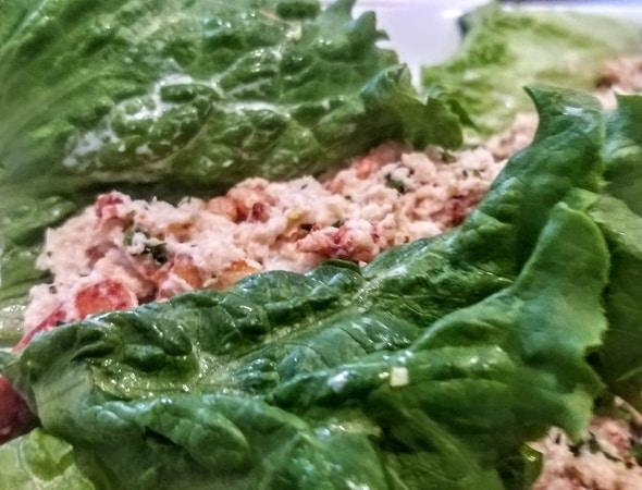 Lobster salad lettuce wraps