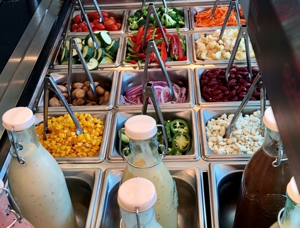Fresh Salad Bar with Dressings